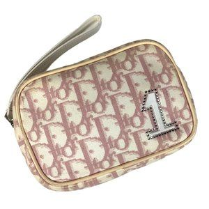 Dior Pink Trotter Monogram Pouch